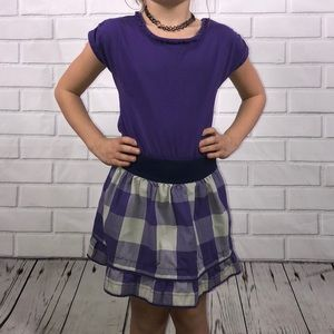 5 for $25! Size 5 Chaps purple and plaid dress